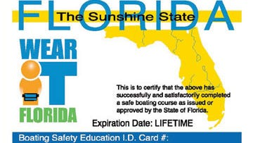 Florida Boater's ID card