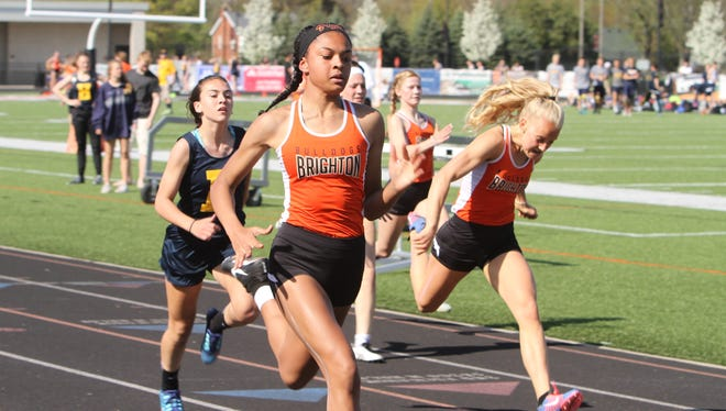 Brighton freshman Brooke Gray won the 100 and 200 in all six of the Bulldogs' dual meets this season.
