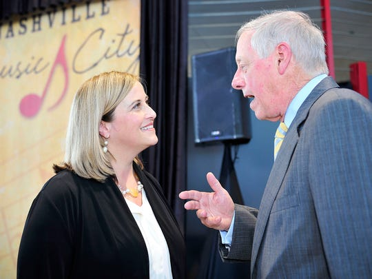 """""""I think Megan Barry is the right person to be the next mayor,"""" former Nashville Mayor and Tennessee Gov. Phil Bredesen said Thursday."""