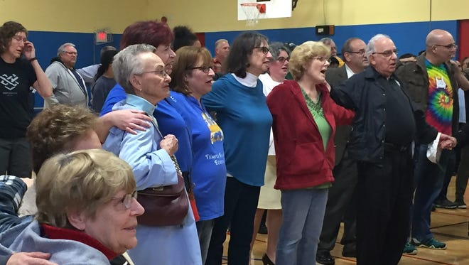Residents from throughout Edison and surrounding communities came out Monday to a rally in support of solidarity and to promote unity in Edison.