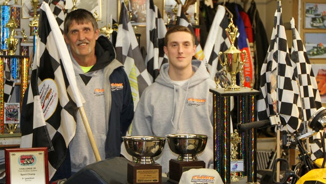 Bruce Patocka, left, and Travis Patocka at the team's shop in Horseheads.