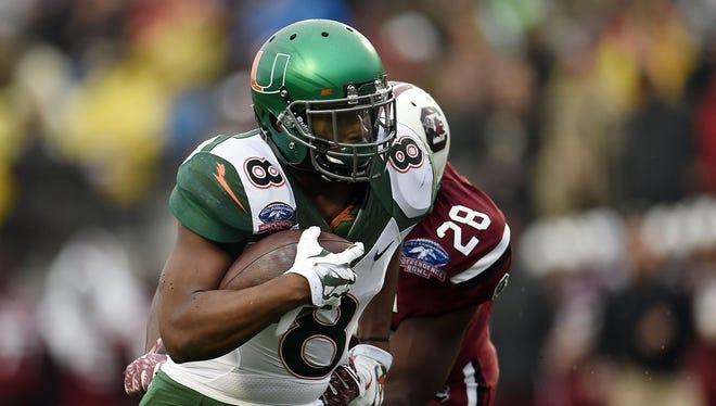 Duke Johnson of the Miami Hurricanes has declared he will enter the NFL Draft.