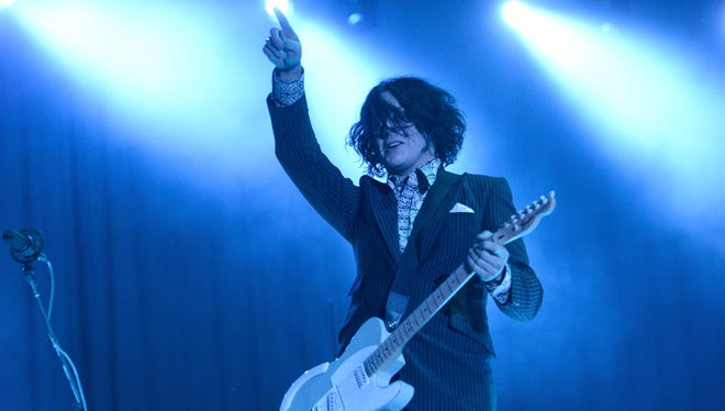 """Singer Jack White, seen here performing during the 2014 Bonnaroo Music & Arts Festival in Manchester, Tenn., had 2014's best-selling vinyl title with """"Lazaretto."""""""