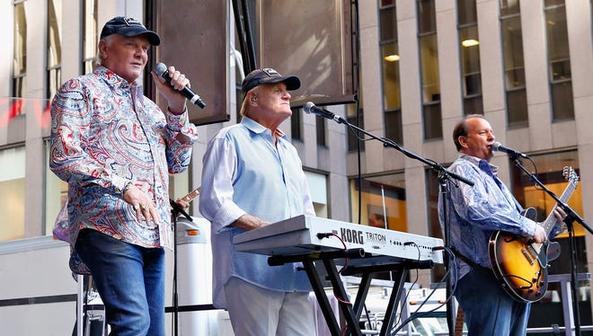 The Beach Boys perform during 'FOX & Friends' All American Concert Series outside of FOX Studios on August 15, 2014 in New York City.