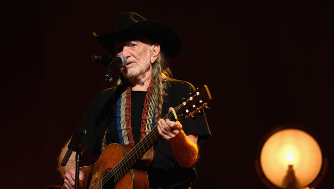 Willie Nelson onstage at the 25th anniversary MusiCares 2015 Person Of The Year Gala honoring Bob Dylan at the Los Angeles Convention Center on February 6, 2015 in Los Angeles, California.
