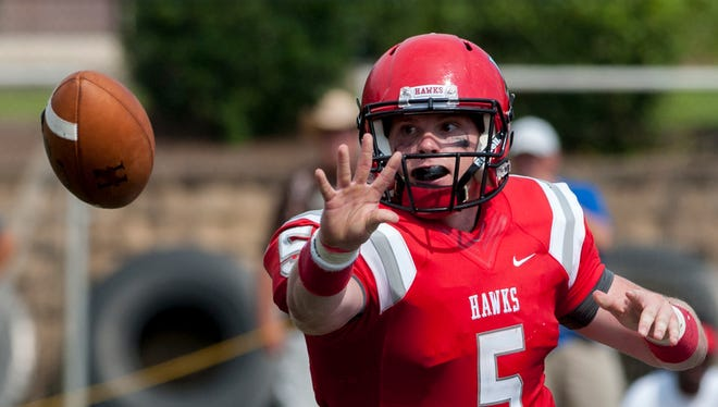 Huntingdon quarterback Luke Bailey, shown in a game last year, set the school's career record for touchdown passes in Saturday's win over Birmingham-Southern.