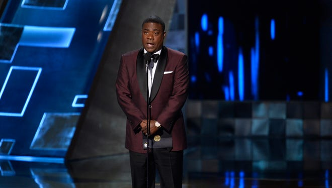 Tracy Morgan, presenting the Best Drama award at the Emmys in Sept.