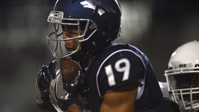 Receiver Wyatt Demps and the Wolf Pack host Fresno State on Saturday.