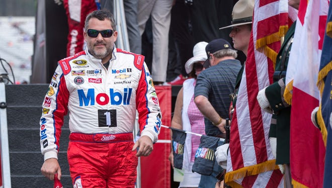Tony Stewart will race at Talladega Superspeedway for the final time this weekend.