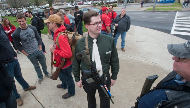 Ilia Chernyavskiy, who has  bachelors and masters degrees  in physiology at U of L and is now defending his doctorate in the same subject while attending his first year of law school, said his affection for weapons growing up and his concern for student safety on campus prompted him to help create the University of Louisville Open Carry/Firearm Education Walk.29 March 2017