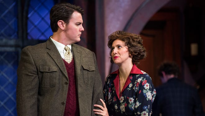 """Performers take part in a dress rehearsal for the first act of ÒThe Mousetrap,"""" which opens on Sept. 8 at the Greenville Little Theatre."""