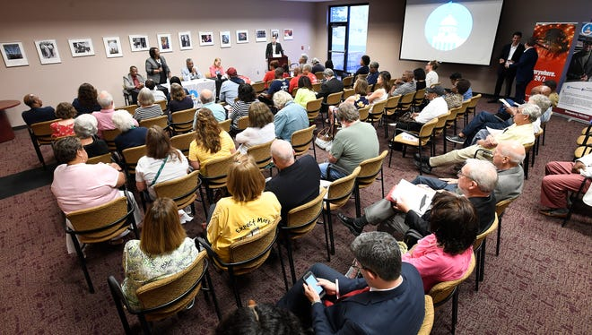 The Montgomery School Board District 6 Candidate Forum at the Montgomery Advertiser offices in Montgomery, Ala. on Thursday May 31, 2018.