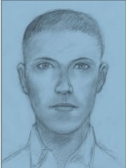 This is a composite drawing of the suspect from the