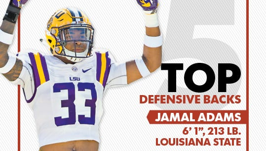 Jamal Adams comes in at No. 1 in our top 5 defensive backs in the 2017 NFL draft.