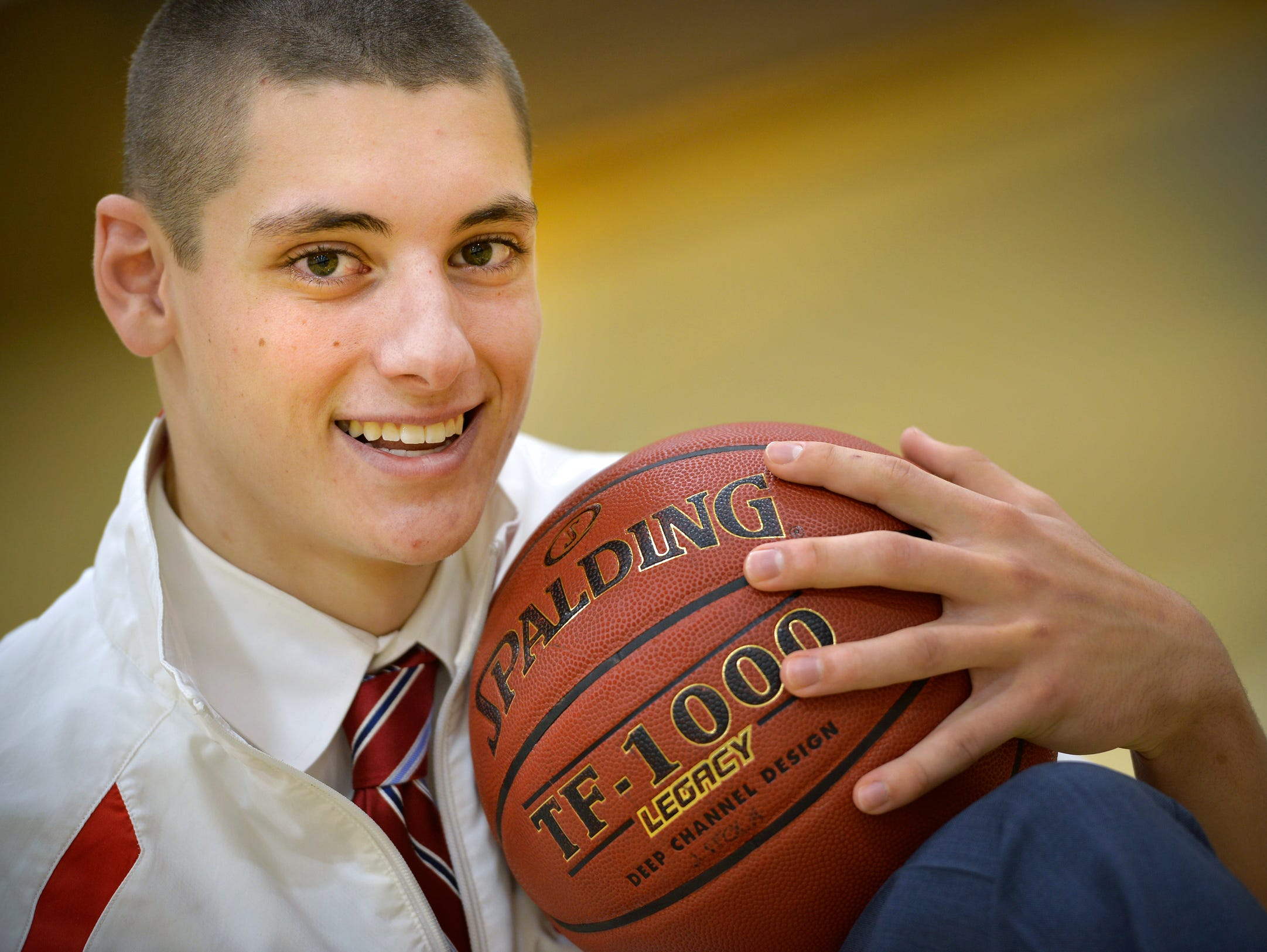 St. John's Prep 6-foot-4 senior guard Joey Stock, photographed Tuesday, Dec. 8, has been putting up solid numbers this year.