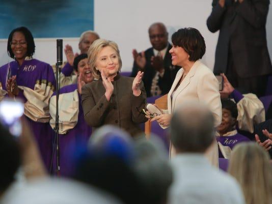 Hillary in Flint