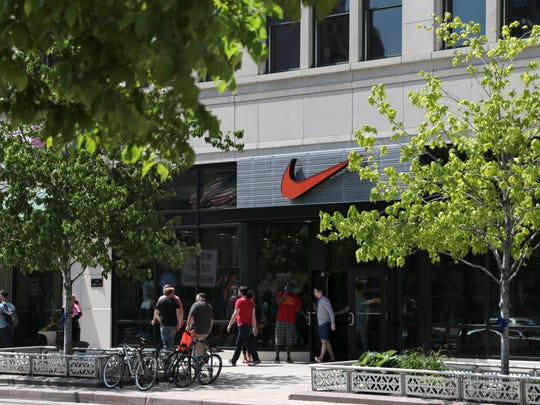 The new Nike store on Woodward Avenue in downtown Detroit is getting lots of attention on Friday, May 27, 2016