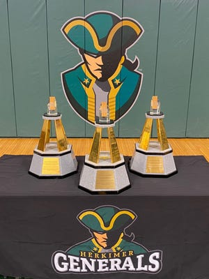 Herkimer County Community College is adding the 2020 Daktronics Cup to these three it won in 2014, 2015 and 2017 when the award for overall athletic performance by non-scholarship two-year schools was known as the NATYCAA Cup.