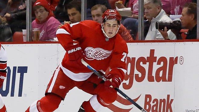 Red Wings forward Dylan Larkin