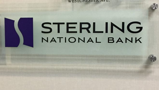 The entrance to Sterling National Bank's offices at 1133 Westchester Ave. in White Plains.