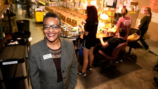 GraceWorks' new CEO/President Valencia Breckenridge has started leading the nonprofit's 32-member staff. Breckenridge comes to GraceWorks from the Chicago area, where she served 25 years in nonprofit fundraising and management. Photographed Wednesday Nov. 16, 2016, in Franklin, Tenn.