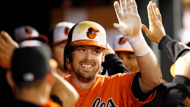 Free-agent catcher Matt Wieters, above, and the Washington Nationals have an agreement in principle on a $10.5 million contract for 2017, pending a physical, according to a person familiar with the deal.
