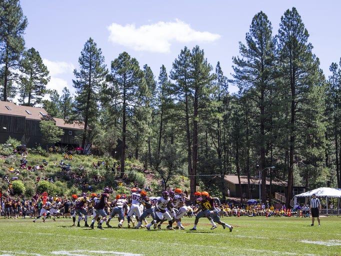 Arizona State scrimmages at Camp Tontozona, Saturday,