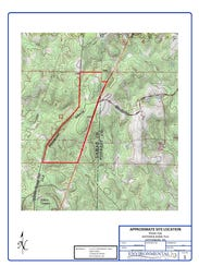 Proposed spray field site in Lamar County