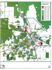 A Wichita Appraisal District map shows areas of Wichita
