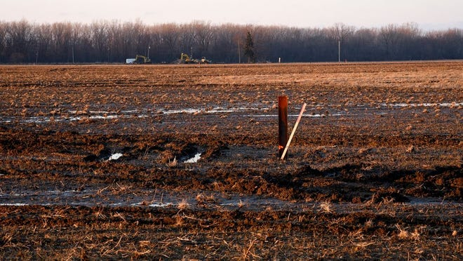 This farm field off Sterns Rd. at S. Dixie Hwy. in Erie, as seen here in February, is being developed as a solar energy farm.