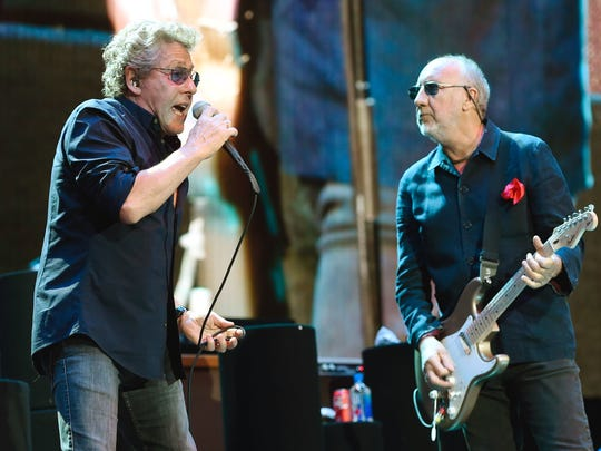 Roger Daltrey, left, and Pete Townshend of The Who, pictured in 2016, play Boardwalk Hall on July 22.