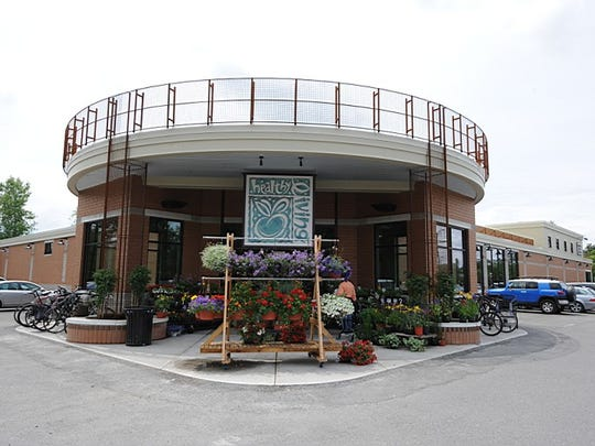 Main entrance to Healthy Living Market and Cafe in South Burlington.