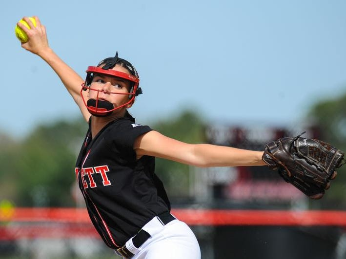 Kasey Donalds tossed a perfect five innings as Bennett softball picked up a 12-0 win against Washington. Donalds struck out 12 of the 15 batters she faced.