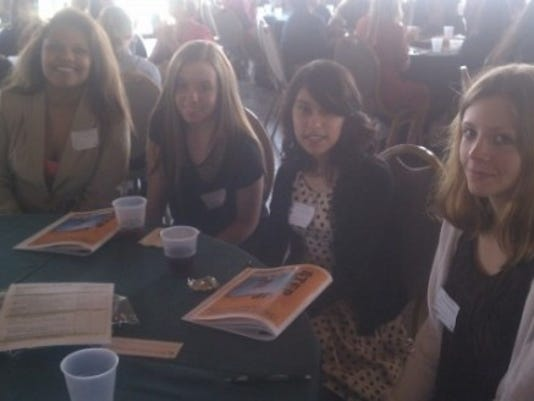 The girls at my table were (from left), Elichia Laugerman (Central York); Taylor Smallwood (York Suburban), Nayeli Garcia (York Catholic) and Caitlin Garrett (Susquehannock). I even had two of them say they were interested in journalism.
