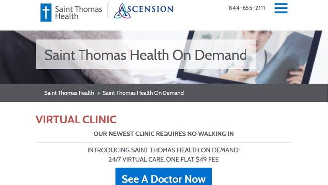 Saint Thomas Health has a new virtual clinic platform that brings walk-in clinics to the smartphones or computers of any Tennessean.