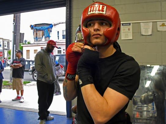 At the North Camden rec center, aspiring boxer Leftany