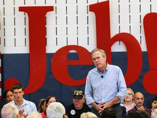Republican presidential candidate, former Florida Gov.