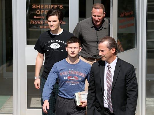 Two brothers accused of trying to dispose of evidence in the homicide of their father were freed on bail Monday, July 25, 2016. Colin Rideout, 22, and Alexander Rideout, 19, have been jailed since Thursday. Both were released on cash bail of $25,000 each.