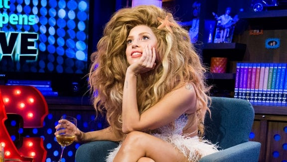 Lady Gaga chats with Andy Cohen on Bravo's 'Watch What Happens Live' on Sept. 11, 2013.
