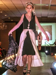 Becca Bishop models the first-place winning creation