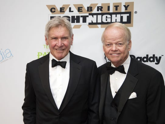 Honoree Harrison Ford and Jimmy Walker, Chairman and