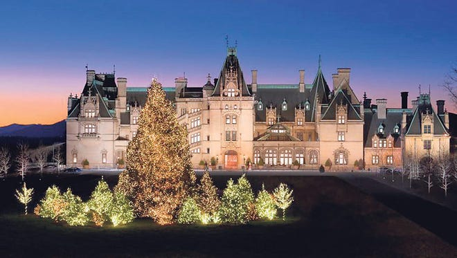 Biltmore Estate, decorated for the holidays.
