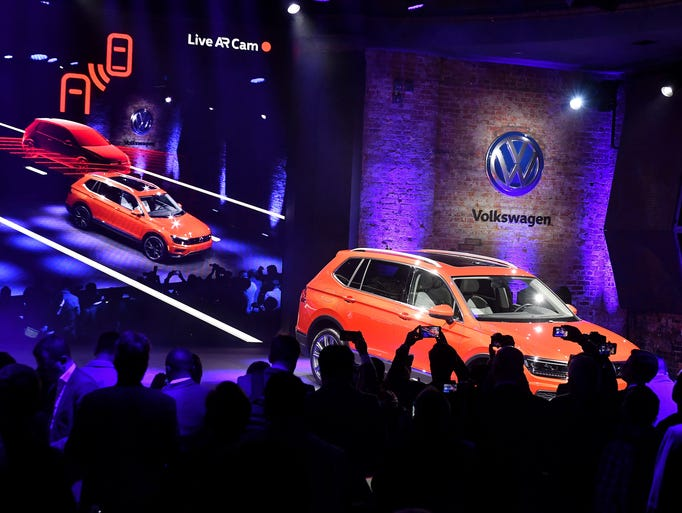 The Tiguan is unveiled at the Volkswagen event  at