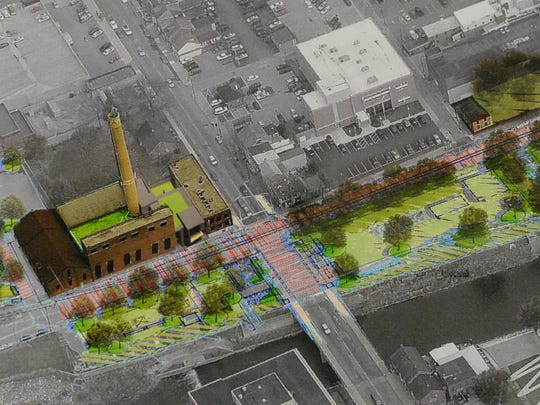 A rendering from LSC Design of plans for a history center at the old Met-Ed steam plant in York. The York County Heritage Trust bought the property Dec. 15.