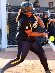 Alamogordo junior Rosemary Tave finished 2-for-3 with a pair of singles Friday afternoon at Volcano Vista High School