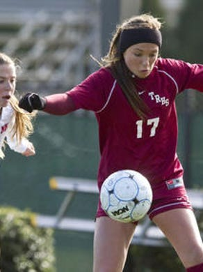 Toms River South's Taylor Troutman dribbles the ball in a game in 2013.