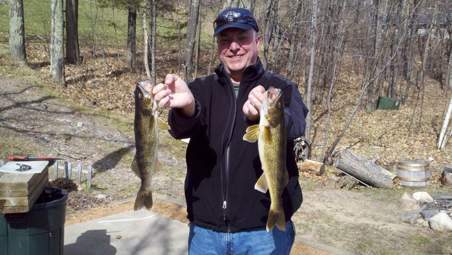 A pair of nice walleyes caught in Eagle River