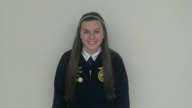 The Valders FFA hosted the District 26 FFA speaking contest recently with Reedsville FFA Treasurer Marie Wedepohl competing in the extemporaneous speaking contest.