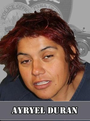 Ayryel Duran is facing a host of charges after allegedly fleeing from Pueblo Police Department officers in a stolen vehicle.