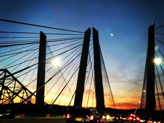 Cuomo Bridge at sunset